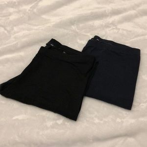 Set of two black and navy blue leggings